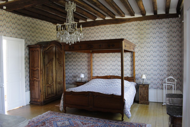 chambre h tes chateau de la loire chambord manoir de la voute. Black Bedroom Furniture Sets. Home Design Ideas